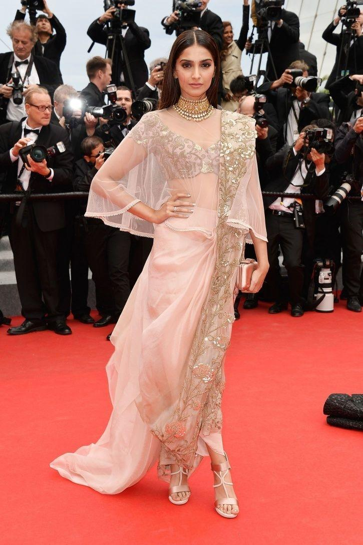 A picture of Sonam Kapoor at Cannes Film Festival 2014.