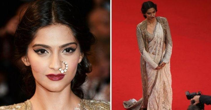 A picture of Sonam Kapoor from Cannes Film Festival 2013.