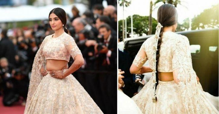A picture of Sonam Kapoor from Cannes Film Festival 2018.
