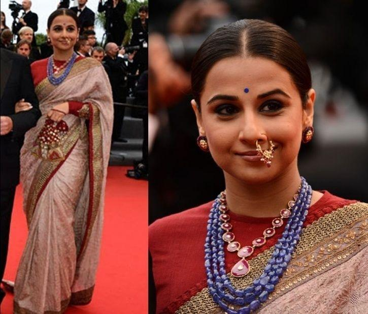 A picture of Vidya Balan at Cannes film festival in 2013.