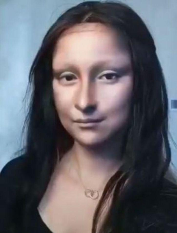 Chinese Vlogger Transforms Herself Into Mona Lisa Using Just Make Up