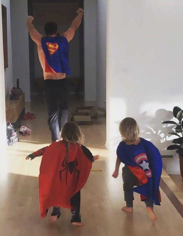Chris Hemsworth is the best daddy ever and this superhero camp with kids is proof.
