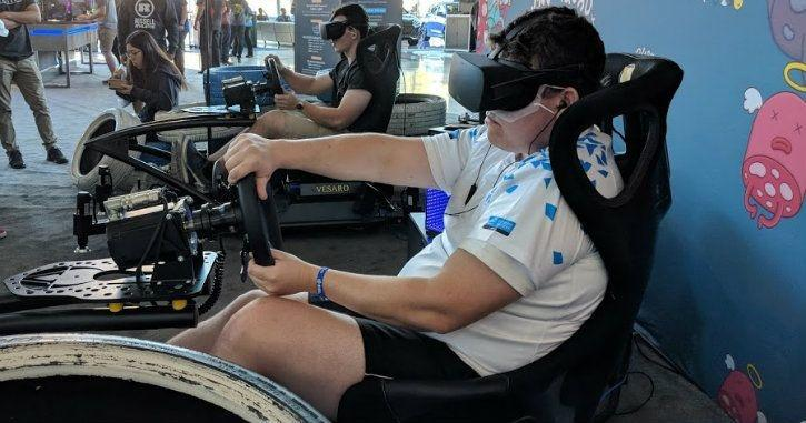 intel extreme masters sydney 2018 vr driving