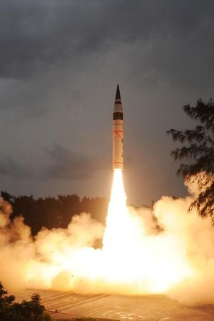 Intercontinental Ballistic Missile Agni V On Way