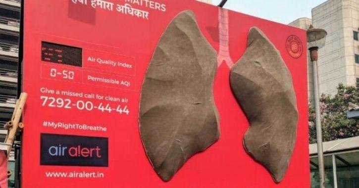 A Clean Pair Of Lungs Installed In Delhi Before Diwali Have Turned Black In 6 Days!