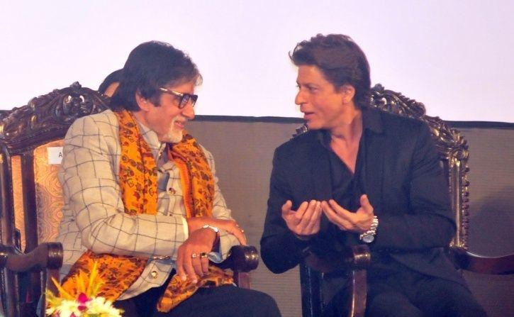 A picture of Shah Rukh Khan and Amitabh Bachchan.