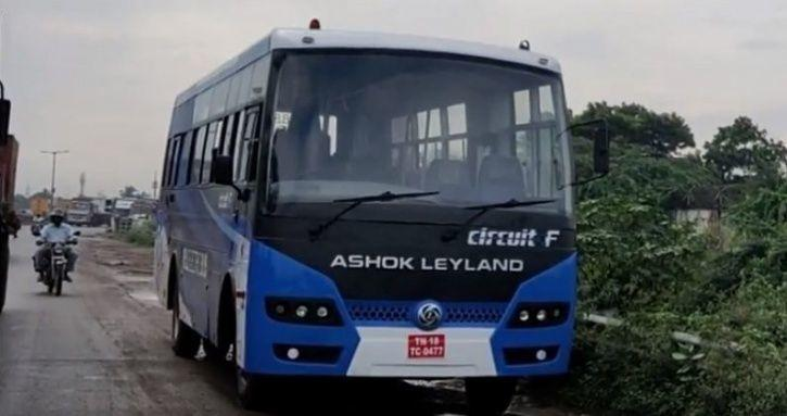 All Electric Bus By Ashok Leyland Spotted On Road Might Be Up For