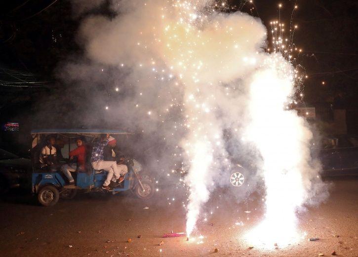Bursting Crackers For Diwali