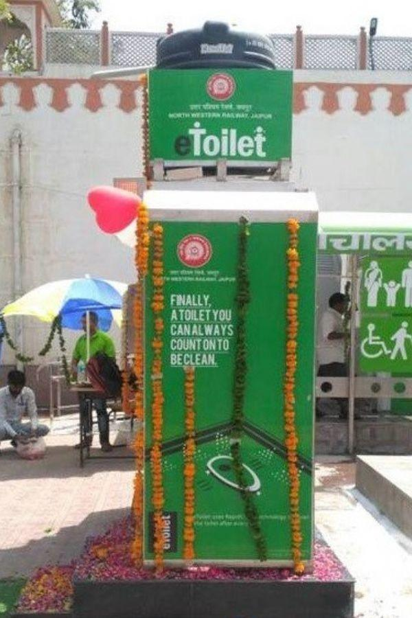 E-toilets, indian railways