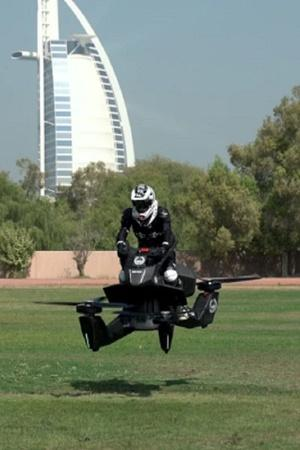 Hoverbike Hoversurf Dubai Police Force electric vertical take off and landing vehicle eVTOL Fly