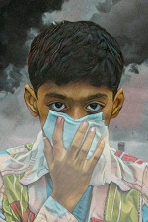 New Delhi air pollution doctors PM 25 breathing lungs crackers WHO vehicles