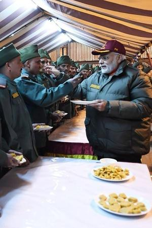 PM Modi Celebrates Diwali With Jawans In Uttarakhand Harsil