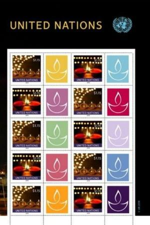 United Nations postal stamps Diwali Indian American embassy