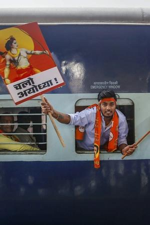 vhp defies ban hold road show in tense ayodhya