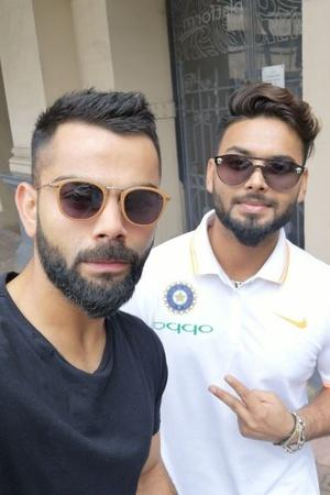 virat kohli post photo with rishabh pant