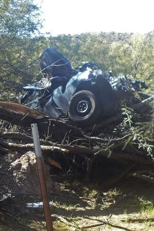 woman found alive in arizona desert 6 days after car plunged off raod