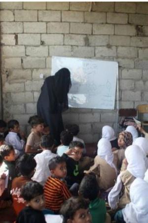 Yemen AdelALShorbagy school students war home community initiative