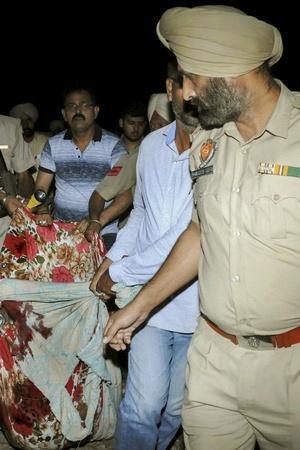Amritsar train accident people train Navjot Kaur Sidhu Jalandhar express Joda Phatak warning