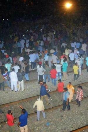 Before Train Rammed Into Crowd In Amritsar People Stood On Elevated Tracks For Better View