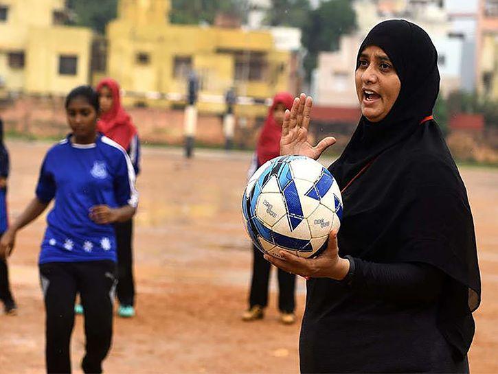 Burqa Clad Football Coach Helps Chennai Girls Shoot For National Goals