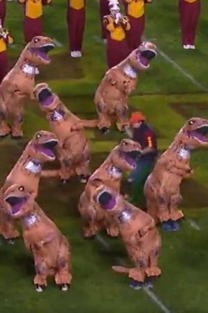 dinosaurs redcoloured dinosaurs cheerleaders