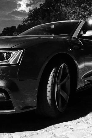 luxury car parking lot