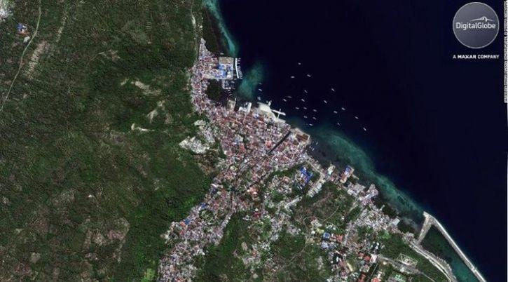 Palu indonesia before and after tsunami