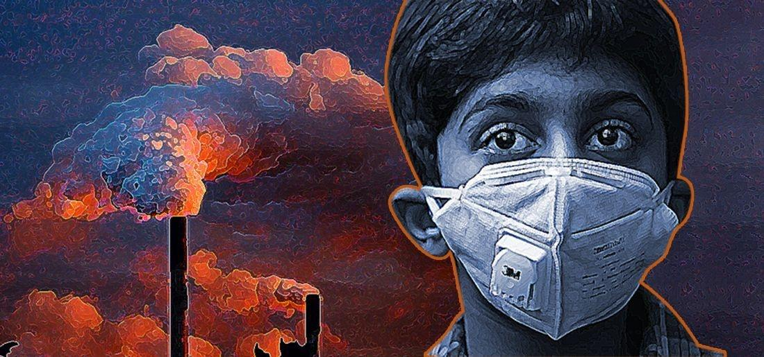 Image result for air pollution children death india