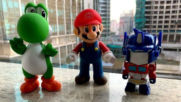 Toys pictured with iPhone XR