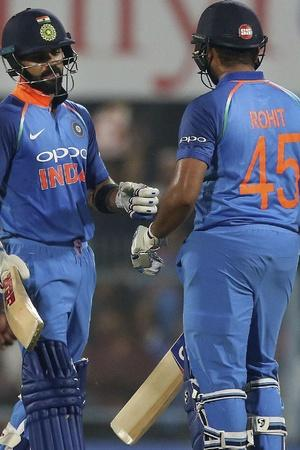 Virat Kohli and Rohit Sharma added 246 runs