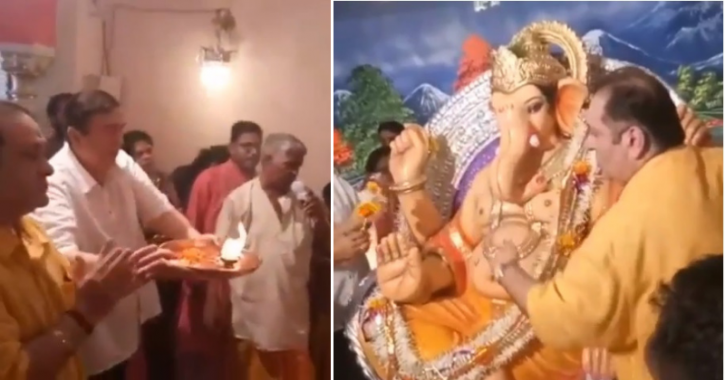 It is a tradition for the Kapoor family to come together to celebrate Ganesh Utsav ever year at the