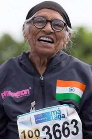 Man Kaur world masters championship athlete gold medal 102 year old