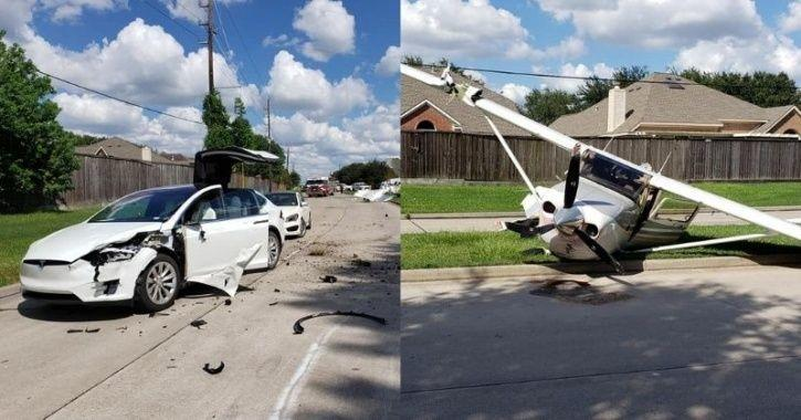 Plane Crashes Straight Into This Indian Man's Tesla Model ...