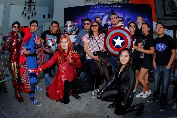 Avengers endgame fans outside cinema hall.