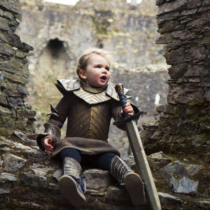 Baby dressed up as Brienne the Tarth ahead of Game of Thrones season 8.