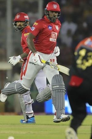 Chris Gayle made 99 not out