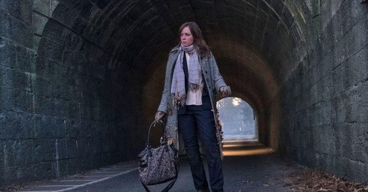 Emily Blunt as Rachel in The Girl On The Tain.