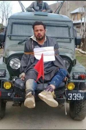 Farooq Ahmed Dar Jammu and Kashmir human shield elections Budgam