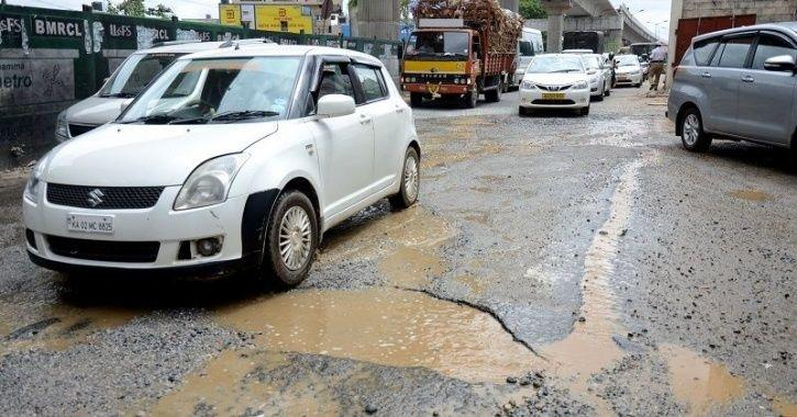 Bengaluru Potholes, Potholes In India, Potholes on Roads, Road Technology, Pothole Sensors, Technolo