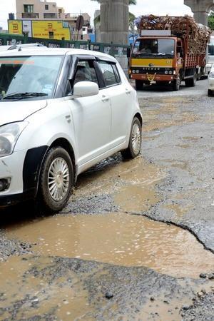 Bengaluru Potholes Potholes In India Potholes on Roads Road Technology Pothole Sensors Technolo