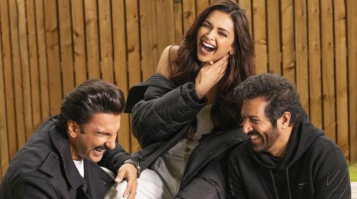 Deepika Padukone, Ranveer Singh and Kabir Khan in a pic.