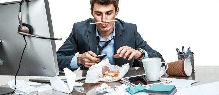 Eating lunch at your desk