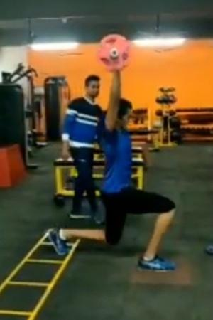 PV Sindhu workout