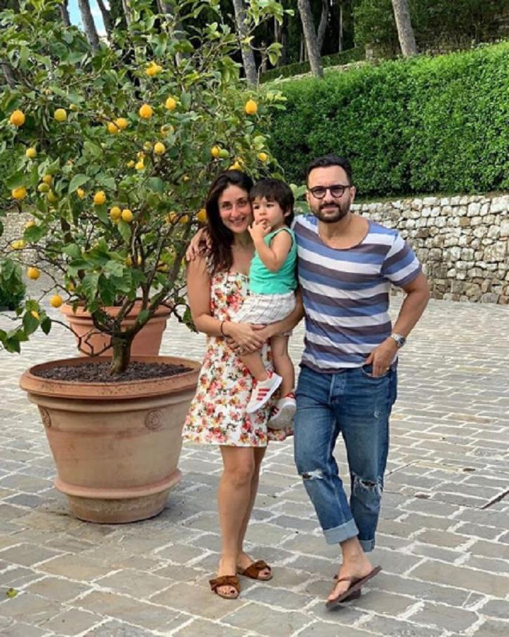 Saif Ali Khan, Kareena Kapoor and Taimur in London ahead of his birthday.