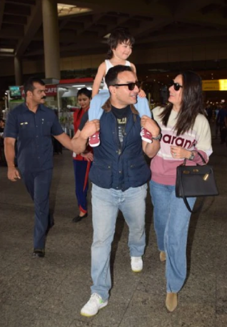 Saif and Kareena are back from their vacation with little Taimur.
