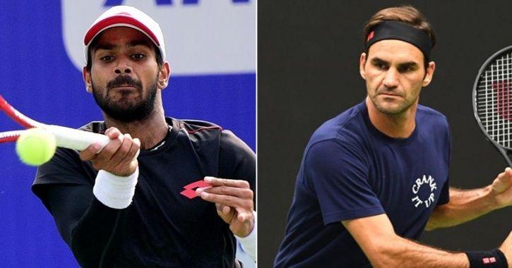 Sumit Nagal and Roger federer