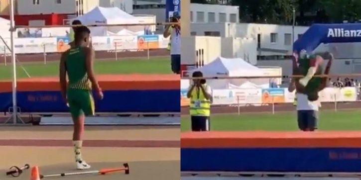 This athlete has one leg