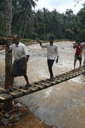 Villagers Construct Bridge
