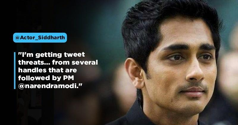 Siddharth Gets Online Threat Messages For Raising His Voice Against Citizenship Amendment Act