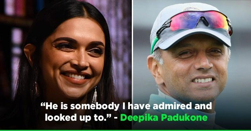 Deepika Padukone Sheds Light On Importance Of Sports In Life, Calls Rahul Dravid Her All-Time Favourite